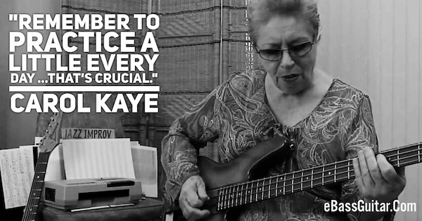 Carole Kaye Bass Guitar Lesson