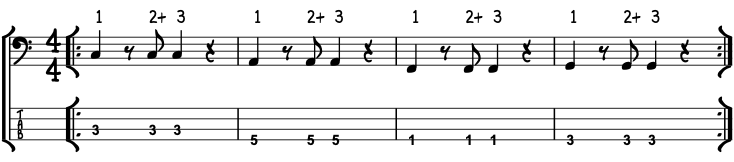 Pop Rock Bass Guitar Sheet Music