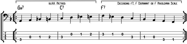 2-5-1 Walking Bass Line