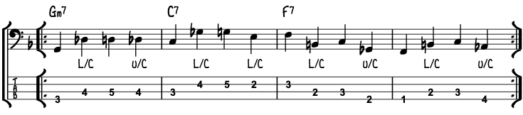 2-5-1 Chromatic Walking Bass Line