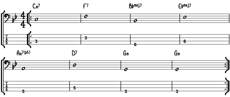 Bass Lesson for Autumn Leavs